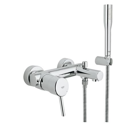 single lever bath shower mixer grohe concetto single lever bath shower mixer 1 2 quot 32212001