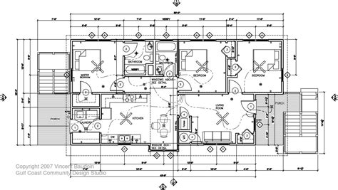 house construction plans running around southern live oak
