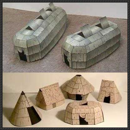 indian paper crafts american architecture free papercrafts