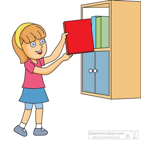 taking pictures of books book clipart clipart girl putting book on shelf