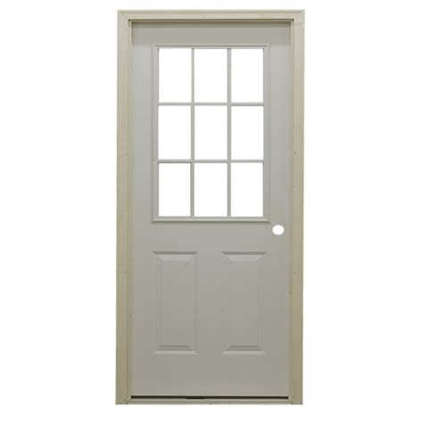 steel exterior door 36 quot 9 lite exterior steel door unit bargain outlet