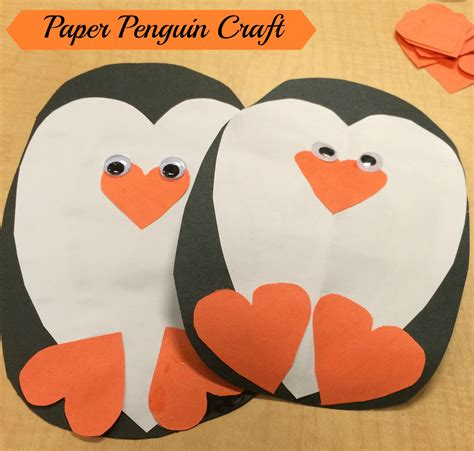 penguin paper craft penguin craft the write balance