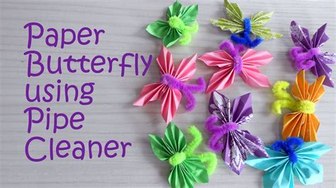 pipe cleaner craft paper butterfly using pipe cleaner tutorial craft
