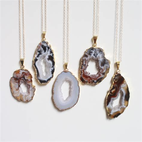 rock for jewelry geode necklace festival necklace rock necklace by