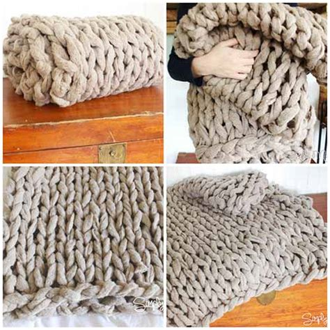 how to arm knit blanket how to arm knit a cosy blanket in 45 minutes mental scoop