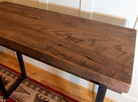 reclaimed wood sofa table buy a custom made reclaimed wood sofa table rustic