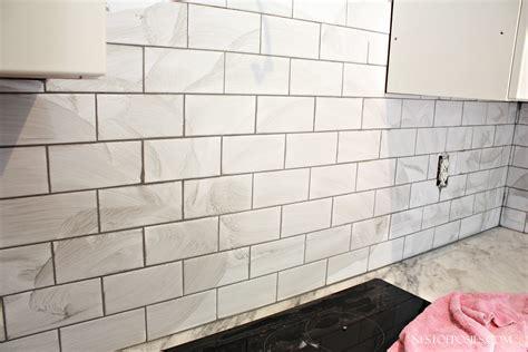 Install Bathroom Backsplash subway tile backsplash installation nest of posies