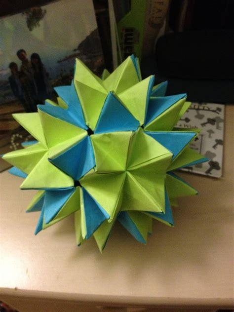 spike origami convertable spike kusudama by dengekidaisy0609 on