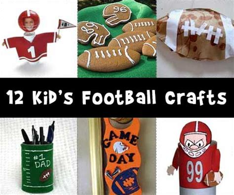 football craft projects football crafts woo jr activities