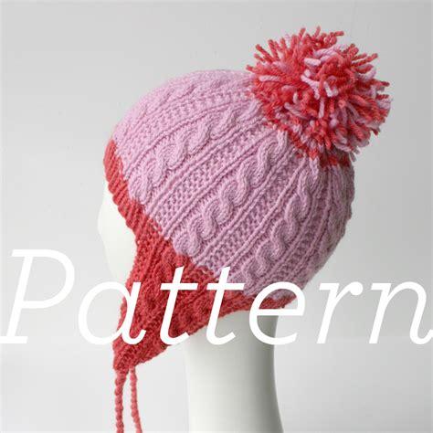 knit hat ear flaps pattern knit pattern gingerbread icing ear flap hat knits prints