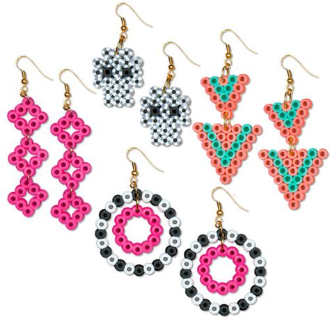 perler bead earrings fashion earrings perler