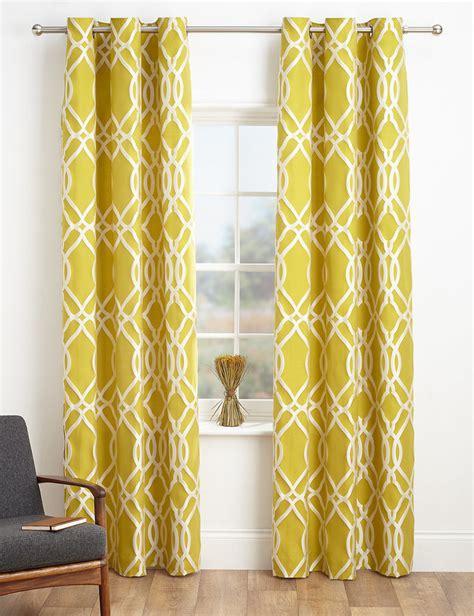 curtain uk marks and spencer geometric jacquard eyelet curtains
