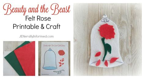 the beast crafts for and the beast felt printable and craft