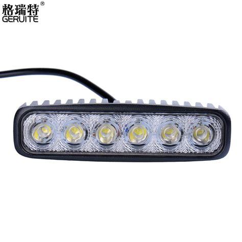 6 inch led light 2 pieces lot 6inch 18w mini led bar 12v led work light