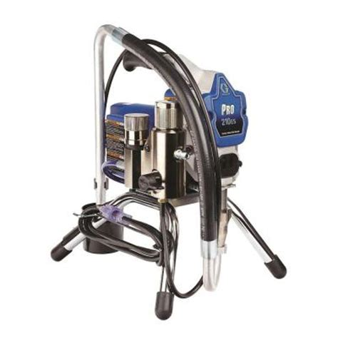 home depot paint sprayer rental cost graco pro 210es airless paint sprayer 24v112 the home depot