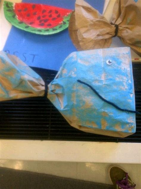 paper bag whale craft whale craft we did in school watermelon craft letter w