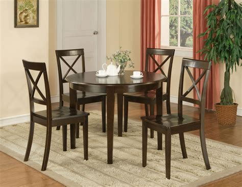Boston Bar Stools by 5 Pc Boston Round Dinette Dining Table Amp 4 Wood Seat
