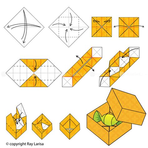origami box steps box animated origami how to make origami