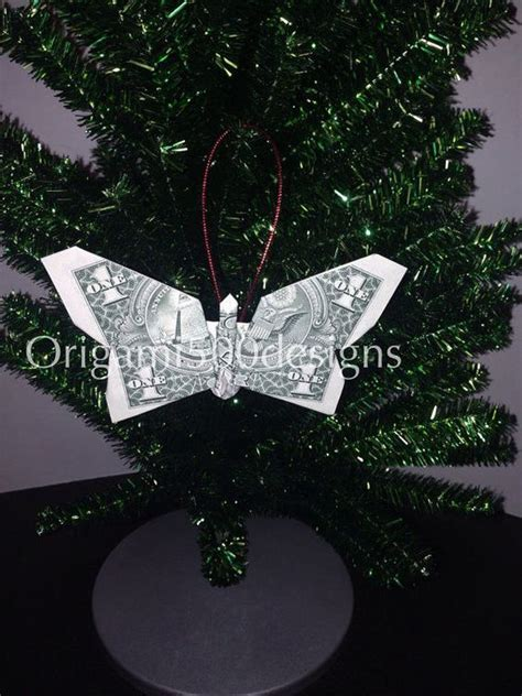 origami money tree money origami butterfly tree ornament