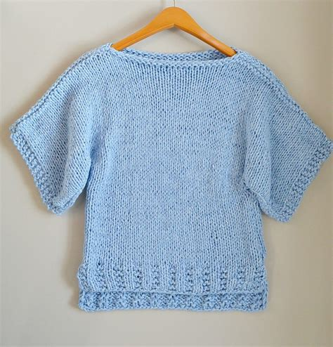 sweater knitting tutorial for beginners easy knit boxy t shirt quot quot pattern in a stitch