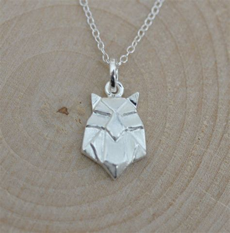 owl origami necklace sterling silver origami owl necklace origami animal jewelry
