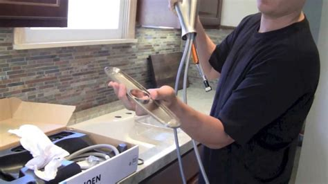 installing new kitchen faucet how to install a kitchen faucet step by step