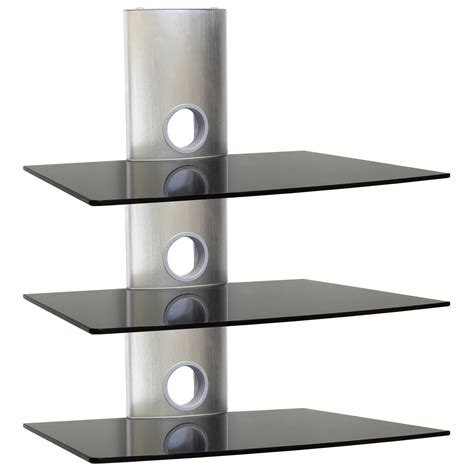 Bathroom Glass Wall by Black Glass Floating Shelves Ideas Home Decorations