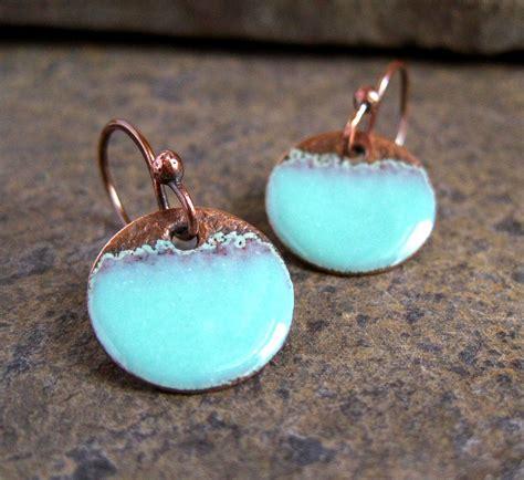 how to make copper enamel jewelry seafoam copper enamel disc earrings tracy flickr