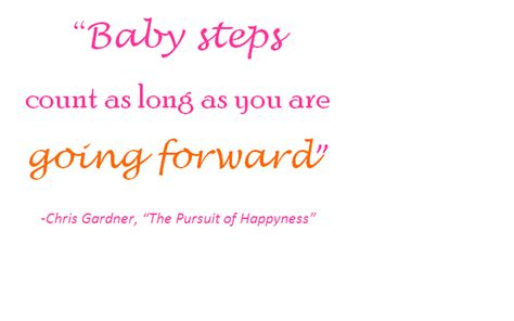baby steps goal setting baby steps do count get your