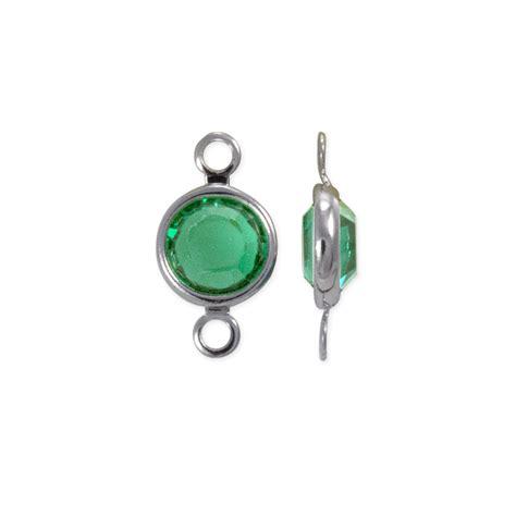 swarovski jewelry supplies swarovksi channel 6mm emerald rhodium plated