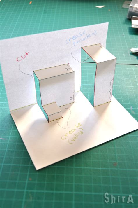 how to make av fold pop up card pop up tutorial 2 asymmetric box fold the green box