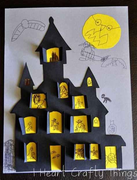 haunted house crafts for haunted house craft i crafty things