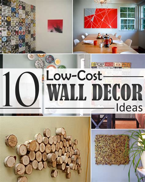 home decor ideas for walls 10 low cost wall decor ideas that completely transform the