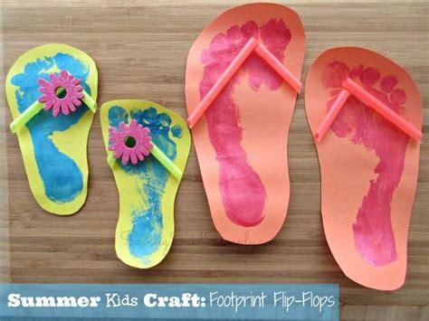 summer craft ideas for to make summer craft footprint flip flops footprints