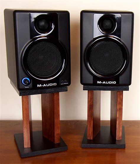 desk top speaker stands diy desktop speaker stands makify