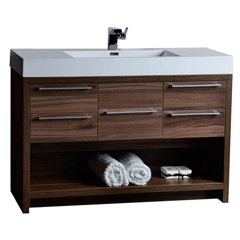 bathroom vanities tn 47 quot modern bathroom vanity set walnut finish tn l1200 wn