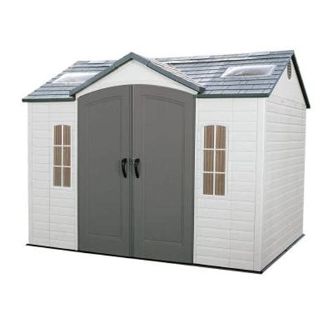 home depot backyard sheds lifetime 10 ft x 8 ft outdoor garden shed 60005 the