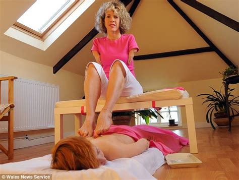 a massage with a difference thalidomide survivor uses her