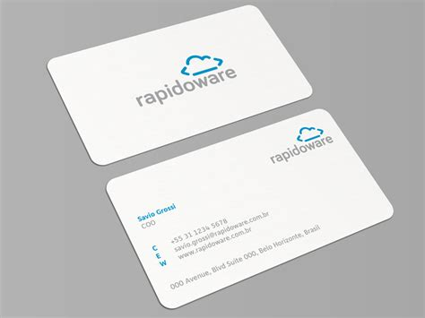 card company rapidoware business card by muhammad ali effendy dribbble