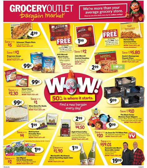 Grocery Outlet   Annie's Organic Pizza $2.99, Eight O'Clock Coffee $2.99, 5 lb. Gala Apples $2