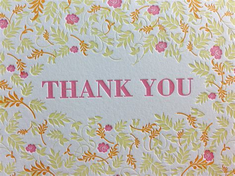 you cards fall floral letterpress thank you cards dolce press
