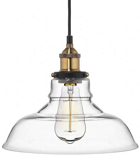 in pendant light fixtures deneve clear glass shade pendant light brass ceiling