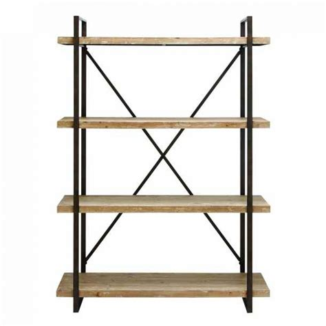 wood and metal shelves modern industrial metal and wooden shelf bookcase