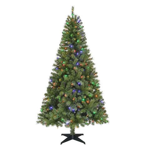pre lit led trees home accents 6 5 ft pre lit led greenville spruce