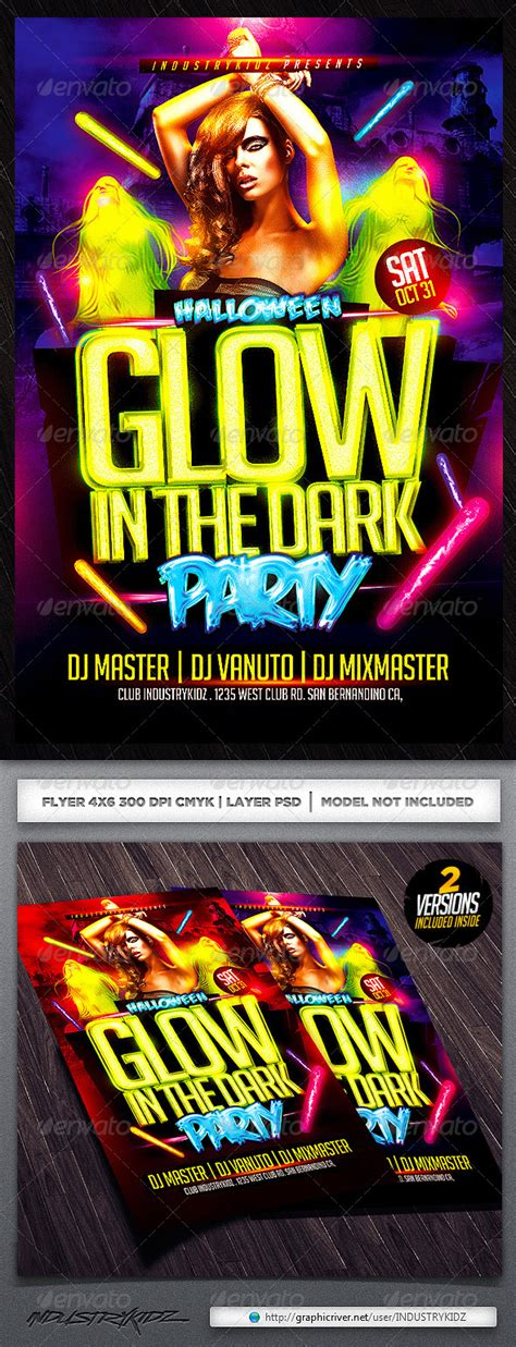 glow in the paint menards glow in the flyer template graphicriver