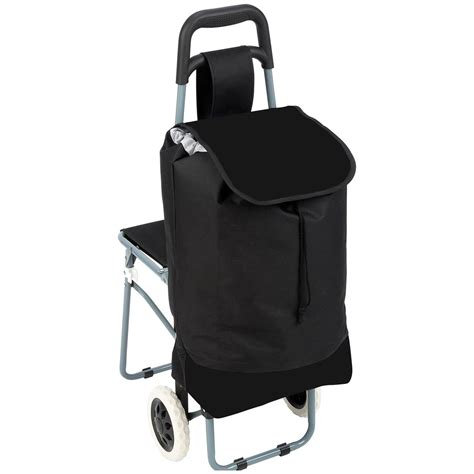 Folding Bag Chair by Maxam 174 Trolley Bag With Folding Chair 235797 Gear