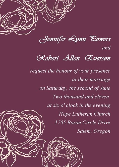 make marriage invitation card free vintage plum wedding invitation cards
