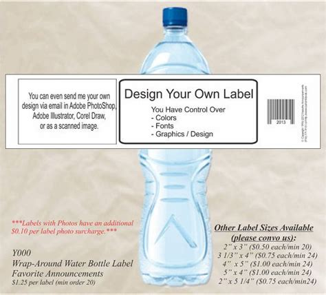 make your own water diy make your own water bottle label custom water