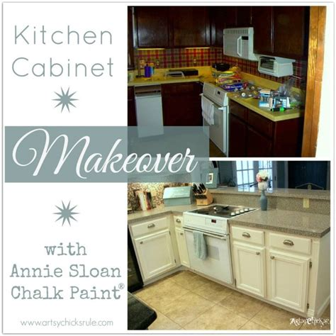 chalk paint kitchen cabinets before and after kitchen cabinet makeover sloan chalk paint