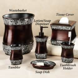 chocolate brown bathroom accessories bathroom accessory sets lots of ideas for your home